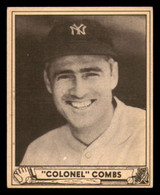 1940 Play Ball #124 Earle Combs EX-Mint