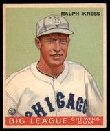 1933 Goudey #33 Red Kress Excellent+ RC Rookie