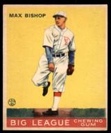1933 Goudey #61 Max Bishop Very Good RC Rookie