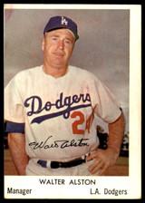 1960 Bell Brand Los Angeles Dodgers #18 Walt Alston Excellent SP