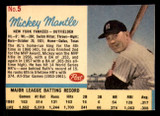 1962 Post Cereal #5 Mickey Mantle VG-EX  ID: 280615
