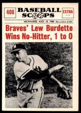 1961 NU-Card Scoops #408 Lew Burdette Very Good