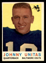 1959 Topps #1 Johnny Unitas Excellent+  ID: 270171