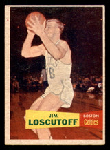 1957 Topps #39 Jim Loscutoff Excellent+ RC Rookie