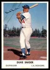 1962 Bell Brand Los Angeles Dodgers #4 Duke Snider VG-EX