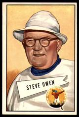 1952 Bowman Large #4 Steve Owen CO Ex-Mint RC Rookie