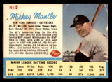 1962 Post Cereal #5 Mickey Mantle G-VG  ID: 280630