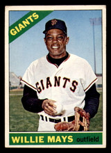 1966 Topps #1 Willie Mays Ink on Back