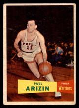1957 Topps #10 Paul Arizin DP Very Good RC Rookie  ID: 288269