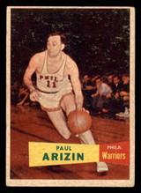 1957 Topps #10 Paul Arizin DP Very Good RC Rookie  ID: 288272