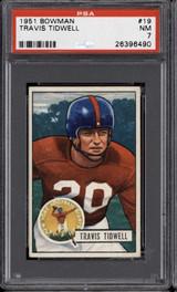 1951 Bowman #19 Travis Tidwell PSA 7 Near Mint