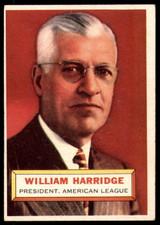 1956 Topps #1 Will Harridge PRES Very Good