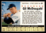 1961 Post Cereal #10 Gil McDougald Excellent+  ID: 280093