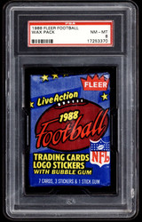 1988 Fleer Football Unopened Pack PSA 8 NM-Mint