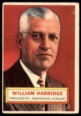 1956 Topps #1 Will Harridge PRES G-VG