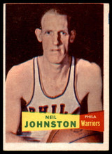1957 Topps #3 Neil Johnston DP Excellent RC Rookie  ID: 262147