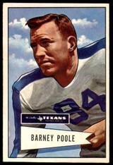 1952 Bowman Large #11 Barney Poole Ex-Mint