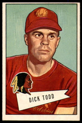 1952 Bowman Large #43 Dick Todd CO Ex-Mint