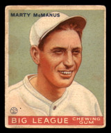 1933 Goudey #48 Marty McManus Very Good RC Rookie