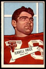 1952 Bowman Large #49 Jerrell Price Ex-Mint