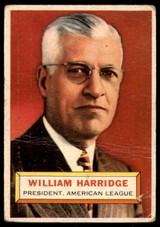 1956 Topps #1 Will Harridge PRES Good  ID: 220756