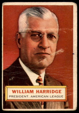 1956 Topps #1 Will Harridge PRES Good  ID: 220757