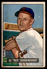 1951 Bowman #10 Red Schoendienst Very Good  ID: 209808