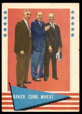 1961 Fleer #1 Frank Baker/Ty Cobb/Zack Wheat Excellent