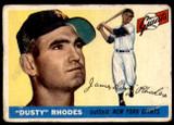 1955 Topps #1 Dusty Rhodes Good  ID: 217578