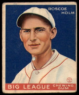 1933 Goudey #173 Roscoe Holm Good RC Rookie