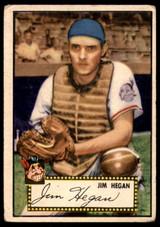 1952 Topps #17 Jim Hegan Very Good Red Back