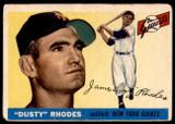 1955 Topps #1 Dusty Rhodes Good  ID: 240966