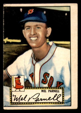 1952 Topps #30 Mel Parnell Miscut Red Back