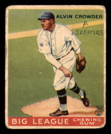 1933 Goudey #95 Alvin Crowder Poor RC Rookie