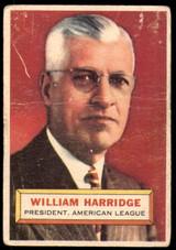 1956 Topps #1 Will Harridge PRES Poor  ID: 257798