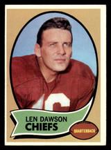 1970 Topps #1 Len Dawson UER Excellent+  ID: 270558
