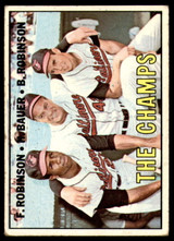 1967 Topps #1 Frank Robinson/Hank Bauer/Brooks Robinson The Champs DP Very Good  ID: 251646