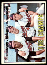 1967 Topps #1 Frank Robinson/Hank Bauer/Brooks Robinson The Champs DP G-VG  ID: 258308