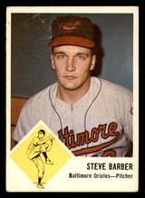 1963 Fleer #1 Steve Barber Very Good  ID: 281488