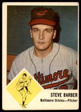 1963 Fleer #1 Steve Barber G-VG  ID: 257989