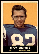 1961 Topps #4 Raymond Berry Excellent+  ID: 252628