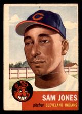 1953 Topps #6 Sam Jones Poor