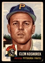 1953 Topps #8 Clem Koshorek DP Very Good  ID: 300910