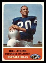 1962 Fleer #18 Bill Atkins Excellent