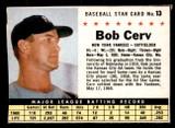 1961 Post Cereal #13 Bob Cerv Ex-Mint  ID: 280098