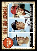 1968 Topps #8 Joe Horlen/Gary Peters/Sonny Siebert A.L. ERA Leaders Ex-Mint  ID: 285731
