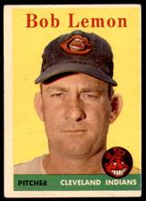 1958 Topps #2 Bob Lemon UER Excellent  ID: 221661