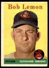 1958 Topps #2 Bob Lemon UER Excellent  ID: 221158