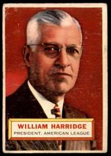 1956 Topps #1 Will Harridge PRES Poor  ID: 236787