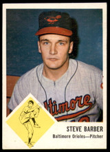 1963 Fleer #1 Steve Barber Excellent  ID: 236531